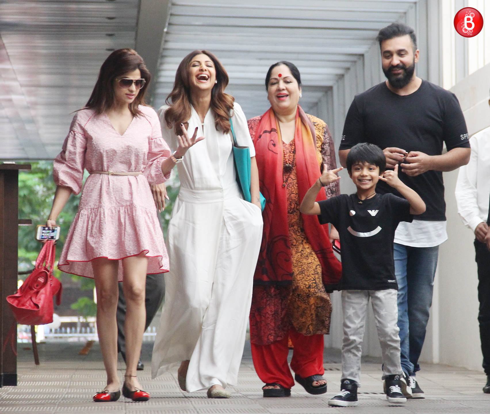 Shilpa Shetty Kundra spotted on a lunch outing with her