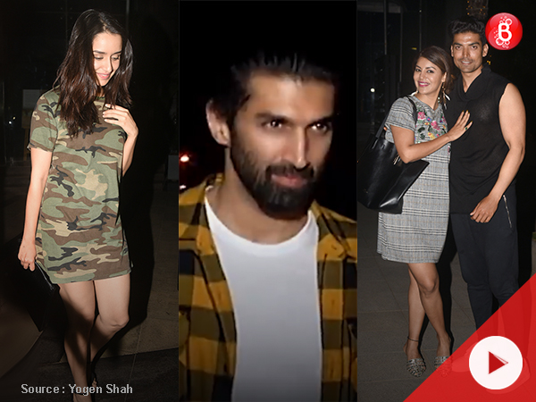 Aditya Roy Kapur, Shraddha Kapoor, Gurmeet Choudhary spotted after dinner at Yauatcha