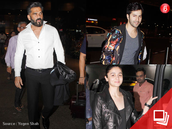 NOT Varun or Alia but Suniel Shetty steals the show at the airport. View Pics!