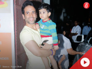 Watch: Tusshar Kapoor spotted with his cute son Laksshya