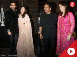 Sachin and Anjali Tendulkar at Zaheer Khan and Sagarika Ghatge's wedding reception
