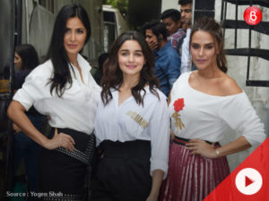 Watch: Katrina Kaif, Alia Bhatt and Neha Dhupia on the sets of Vogue BFFs