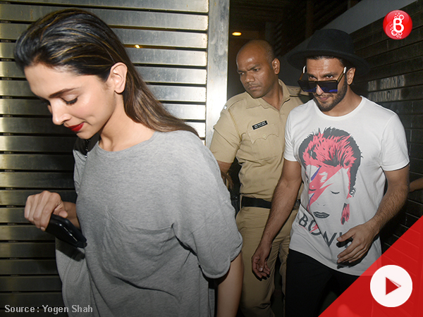 Watch: Ranveer Singh spotted with rumoured girlfriend Deepika Padukone