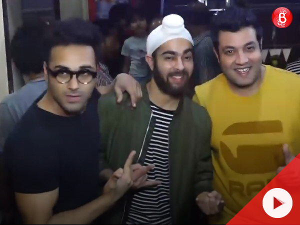 Watch: Pulkit, Manjot and Varun spotted at success party of 'Fukrey Returns'