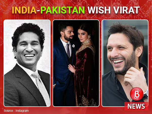 Virat-Anushka get love and wishes from Indian and Pakistani cricketers
