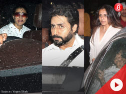 Kajol, Rani Mukerji and Abhishek Bachchan at Shashi Kapoor's house