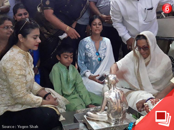 PICS: Kajol seeks blessings of almighty at Siddharoodha Math in Hubli along with family