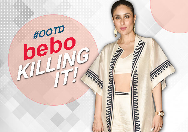#OOTD: Kareena takes a not so mediocre route and flashes her midriff like a BOSS!