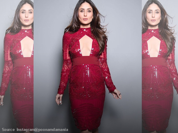 #OOTD: Kareena in glittery red body-con looks as hot as the sun