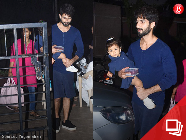 Shahid and Misha twin in dark blue attires and we are loving their pictures!