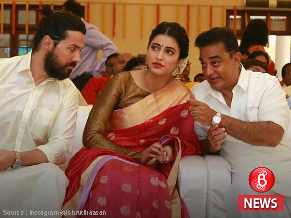 Shruti Haasan and rumoured beau attend a family wedding with daddy Kamal Hassan
