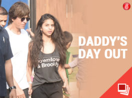 Suhana Khan and SRK spotted