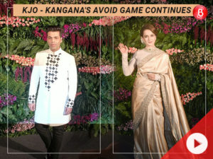 WATCH: Karan Johar and Kangana Ranaut avoid each other at Virushka's reception