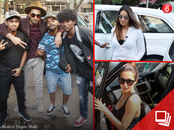 While Ranveer gets clicked with fans, Bipasha, Malaika are all about fitness and beauty