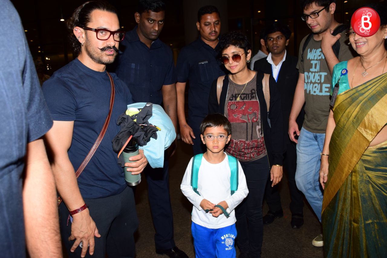 Aamir Khan, Kiran Rao and Azad pic