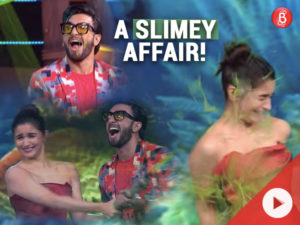 WATCH: Ranveer Singh pours SLIME on Alia Bhatt and she couldn't do much!
