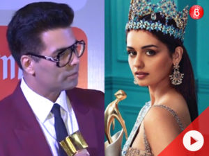 Watch: Karan Johar talks about Manushi Chhillar's debut film