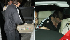 Shah Rukh Khan gets papped outside a recording studio. View Pics!