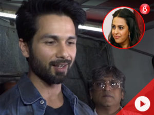 Watch: Shahid Kapoor REACTS to the open letter written by Swara Bhasker on Padmaavat