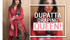 Shilpa Shetty's dupatta draping style will ease your 'tripping over it' woes!