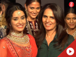 Shraddha Kapoor walks for Anita Dongre at The Wedding Junction show