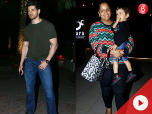WATCH: Sooraj Pancholi SPOTTED chilling with Arpita Khan and baby Ahil
