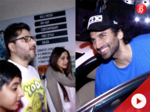 WATCH: Sonali Bendre with family and Aditya Roy Kapur spotted on a movie outing