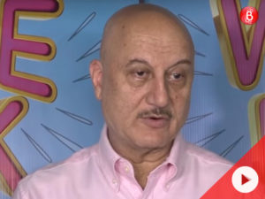 Watch: Anupam Kher ignores the question on Pakistani artistes being banned in India