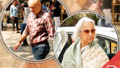 Pics: Anupam Kher and Waheeda Rehman arrive at Anil Kapoor's house to pay condolences