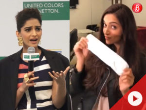 Watch: Sonam lashes out at a journalist, QUASHES reports of deleting Deepika's video from Instagram