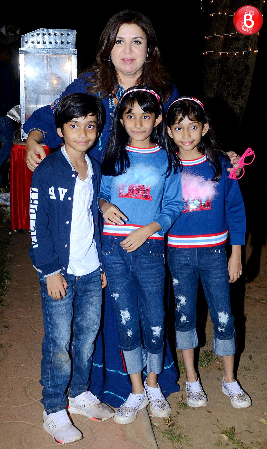 Farah Khan with her triplets