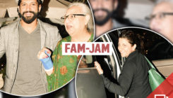 PICS: Farhan Akhtar and family have a gala time as they go on a dinner outing