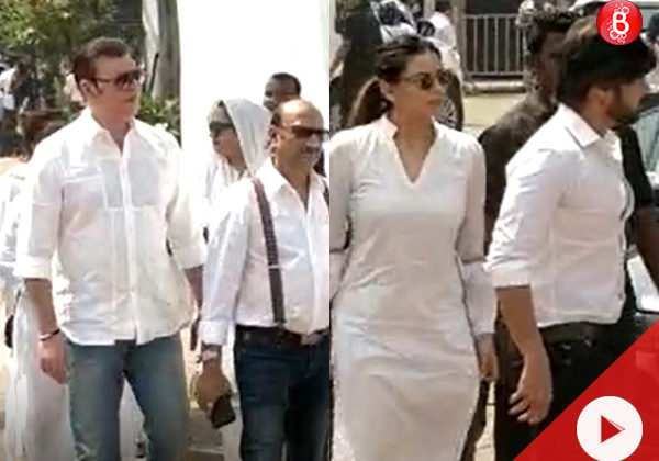 Watch: Himesh Reshammiya, Aditya Pancholi and more visit Sridevi's mortal remains