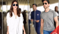 Upcoming jodi, Hrithik Roshan and Vaani Kapoor spotted at airport. View Pics!