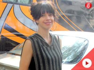 Watch: A fresh as daisy Kalki Koechlin spotted at Mehboob studio