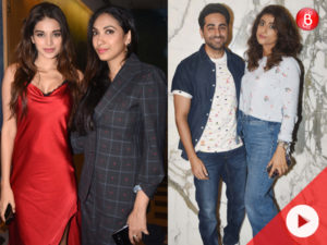 PadMan screening: Ayushmann, Nidhhi Agerwal and others keep their date with the Akshay Kumar-starrer