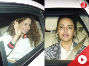 Watch: Kangana Ranaut, Swara Bhasker and others attend the special screening of 'PadMan'