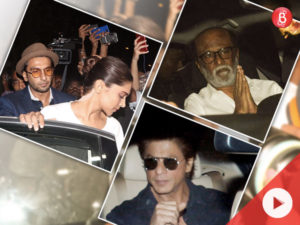 Watch: Rajinikanth, SRK, Ranveer and Deepika visit Anil Kapoor's house to offer their condolences