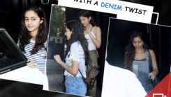 Suhana, Ananya and Shanaya step out of the gym with their denim game on. SEE PICS