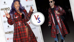 Karan Johar or Stefflon Don: Who wore the red overcoat better?