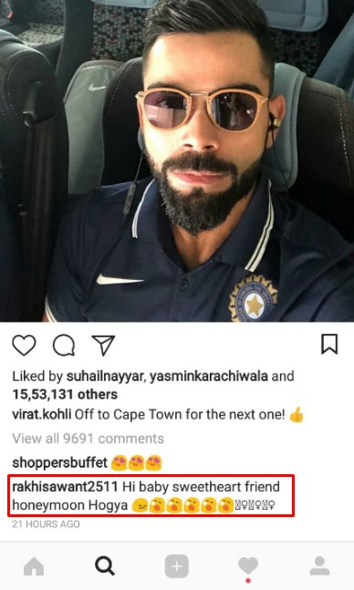 Rakhi Sawant has the weirdest question for Virat Kohli