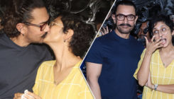 The kisses don't stop as Aamir Khan and Kiran Rao celebrate his birthday with the media