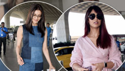 PICS: An ultra-stylish Ileana and a geeky Kajal Aggarwal make a GORG entry at the airport