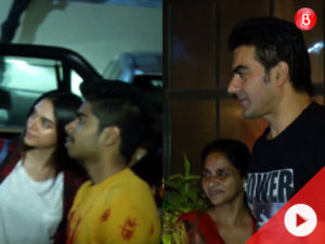 Watch: Arbaaz and Aditi pose for photos with fans as we spot them in Bandra