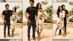 Ishaan tries to match his height with his 'Beyond The Clouds' co-star. VIEW PICS!