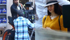 Elli AvrRam and rumoured boyfriend Hardik Pandya spotted on sets of an ad shoot. VIEW PICS