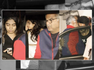 WATCH: Boney Kapoor, Khushi and Janhvi spend some time at Arjun Kapoor's place
