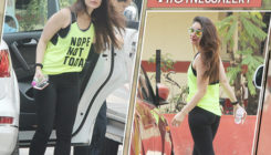 Kareena's neon and black gym gear makes us want to raid her wardrobe. View Pics