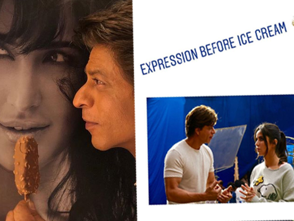 PIC! Katrina and Shah Rukh Khan are inseparable, after their ice-cream moment, literally