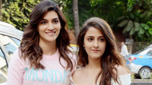 Watch: Kriti Sanon with her sister Nupur Sanon spotted in the city for a shoot
